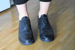 Angelo Bervicato Wingtip Shoes black leather