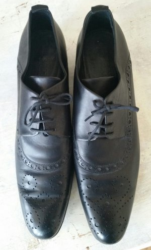 Jil Sander Zapatos Budapest negro Cuero