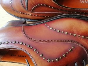 Wingtip Shoes cognac-coloured
