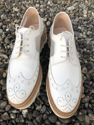 Pertini Wingtip Shoes white-silver-colored