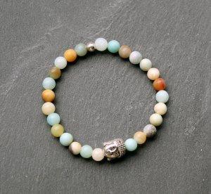 Buddha • Armband Amazonit Silber