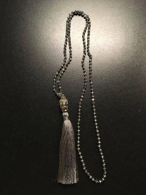 Collana argento-grigio