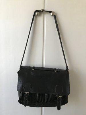 Shoulder Bag black-cream leather