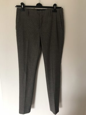 Zara Jersey Pants taupe-grey viscose