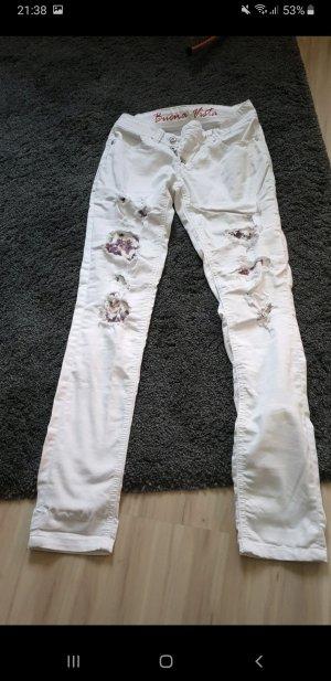 Buena Vista Stretch jeans wit