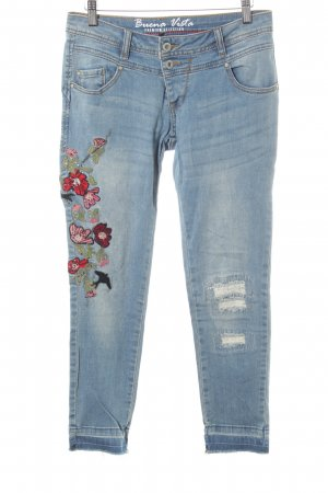 Buena Vista 7/8 Jeans himmelblau Used-Optik
