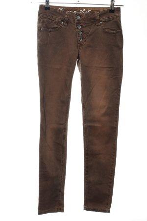 Buena Vista Boyfriend Trousers bronze-colored color gradient casual look
