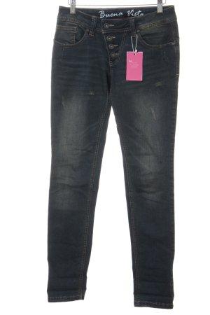 Buena Vista Jeans boyfriend blu scuro-verde-grigio Colore sfumato stile casual