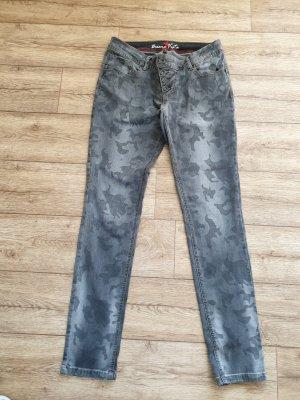 Buena Vista Pantalone a vita bassa grigio chiaro-grigio