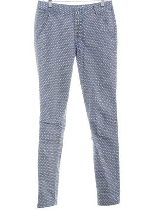 Buena Vista Chinohose graublau-wollweiß abstraktes Muster Casual-Look
