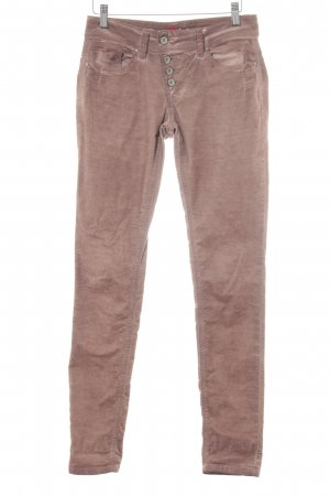 Buena Vista Pantalon en velours côtelé gris lilas-vieux rose