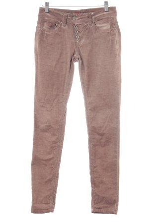 Buena Vista Corduroy Trousers grey lilac-dusky pink casual look