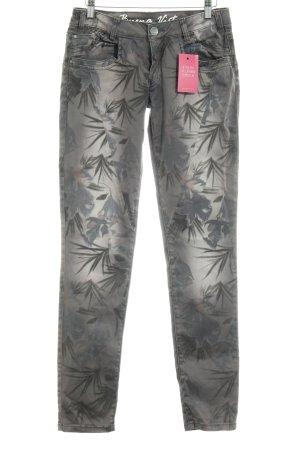 Buena Vista Pantalon cinq poches gris brun-gris ardoise imprimé allover