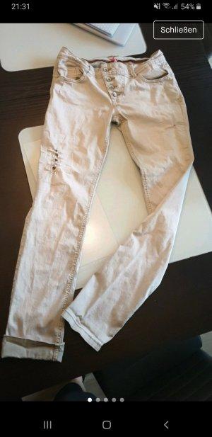 Buena Vista Stretch jeans licht beige