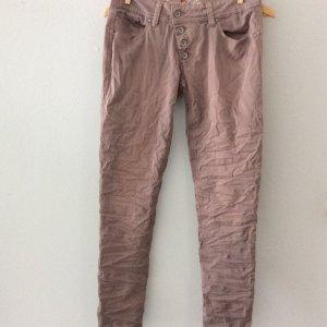 Buena Vista Pantalone elasticizzato color oro rosa-grigio