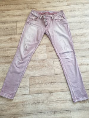 Buena Vista Pantalone a vita bassa rosa antico