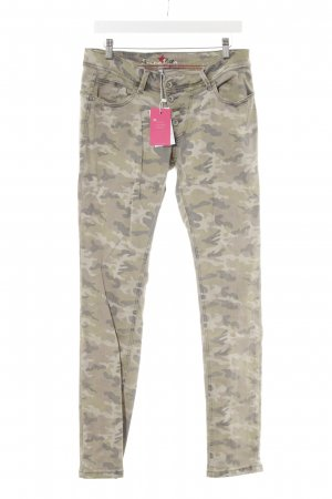 Buena Vista Low-Rise Trousers green grey-dark grey camouflage pattern