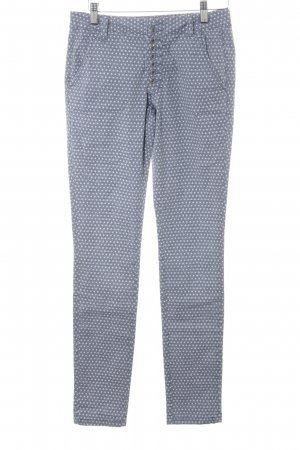 Buena Vista Low-Rise Trousers azure-white star pattern casual look