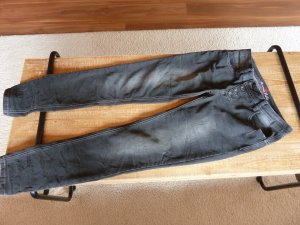 Buena Vista Jeans cigarette noir tissu mixte