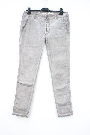 Buena Vista Hoge taille jeans room-zilver