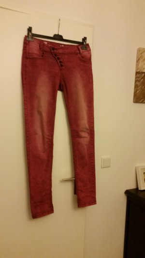 Buena Vista Boyfriend Jeans bordeaux cotton