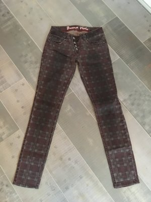 Buena Vista Jeans Malibu rot Karo Gr. S