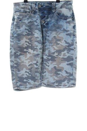 Buena Vista Jeansshorts blau Camouflagemuster Casual-Look