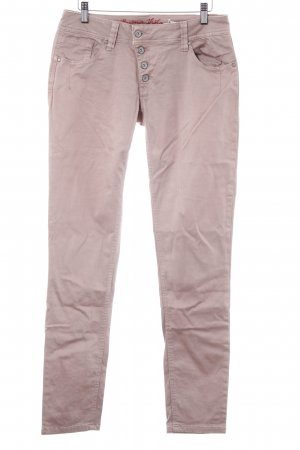 Buena Vista Jeggings rosa empolvado look casual