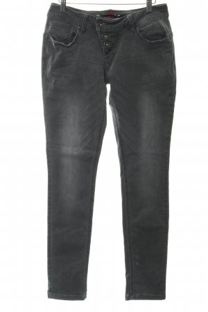 Buena Vista Drainpipe Trousers dark grey casual look