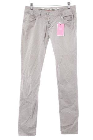 Buena Vista Pantalon cigarette gris brun-gris clair motif graphique