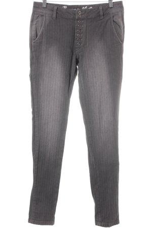 Buena Vista Röhrenhose taupe-grau grafisches Muster Casual-Look