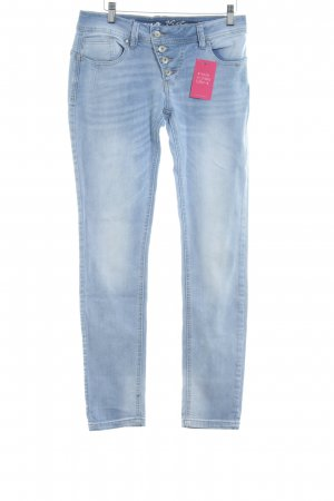 Buena Vista Tube jeans azuur casual uitstraling