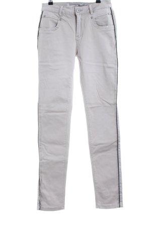 Buena Vista Skinny Jeans hellgrau-schwarz Casual-Look