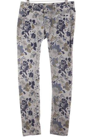 Buena Vista Skinny Jeans Blumenmuster Casual-Look