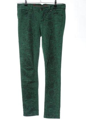Buena Vista Skinny Jeans grün Animalmuster Casual-Look