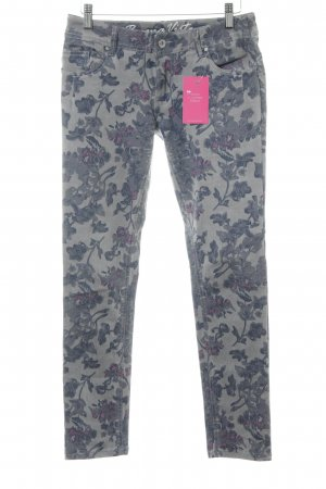 Buena Vista Skinny Jeans florales Muster Casual-Look