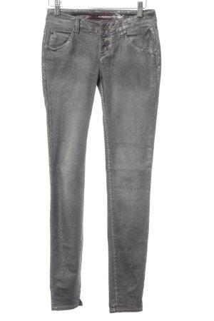 Buena Vista Skinny Jeans grau-silberfarben Glitzer-Optik