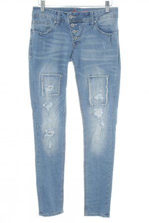 Buena Vista Skinny Jeans graublau Destroy-Optik