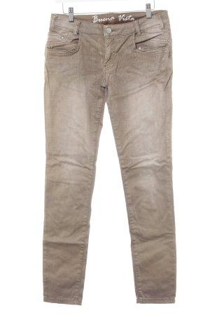 Buena Vista Skinny Jeans hellbraun Casual-Look
