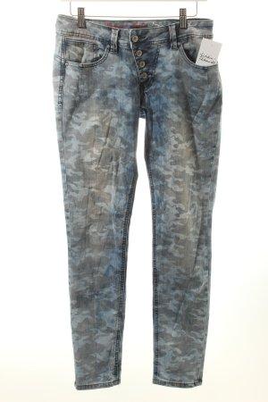 Buena Vista Skinny Jeans himmelblau-stahlblau Camouflagemuster Military-Look