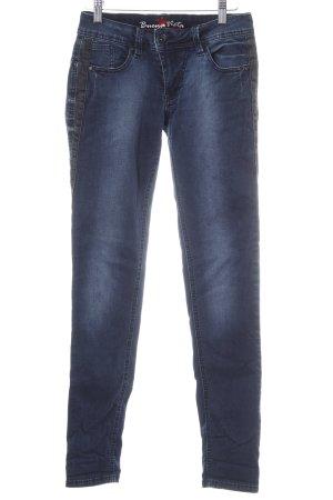 Buena Vista Skinny Jeans stahlblau-dunkelgrau Casual-Look