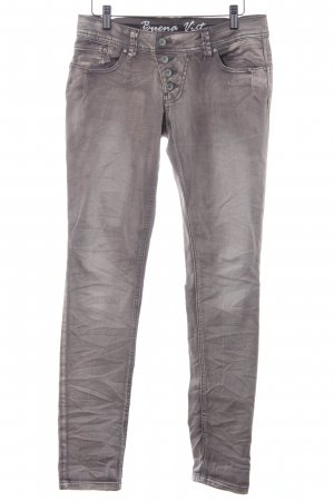 Buena Vista Skinny Jeans wollweiß-graubraun Washed-Optik