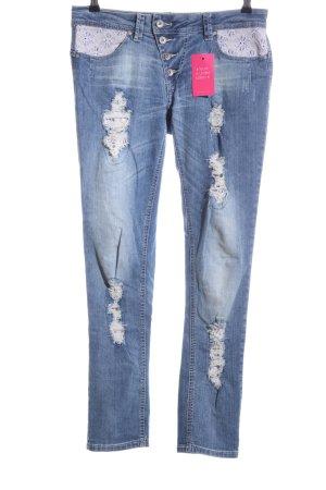 Buena Vista Slim Jeans blau Casual-Look