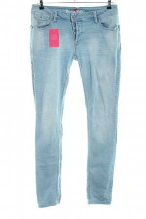 Buena Vista Slim Jeans blau-weiß Casual-Look