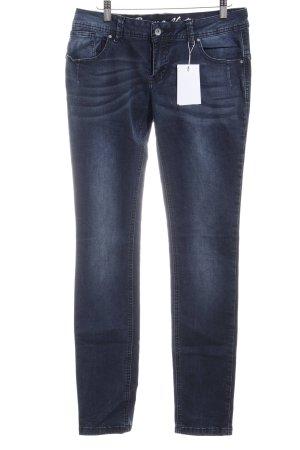 Buena Vista Slim Jeans blau Washed-Optik