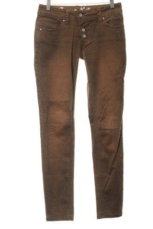 Buena Vista Slim Jeans cognac-coloured washed look