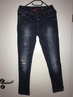Buena Vista Slim jeans donkerblauw-azuur