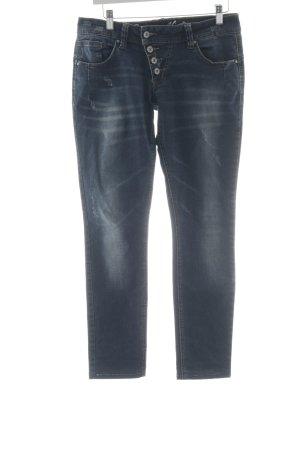 Buena Vista Slim Jeans dunkelblau Destroy-Optik