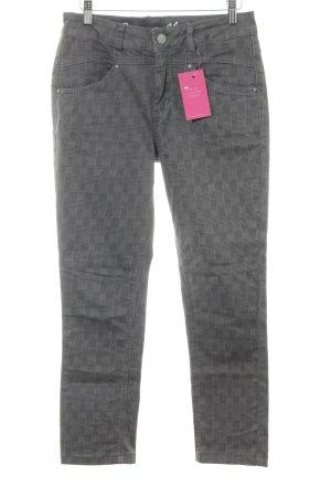 Buena Vista Slim Jeans grau-dunkelgrau Karomuster Casual-Look