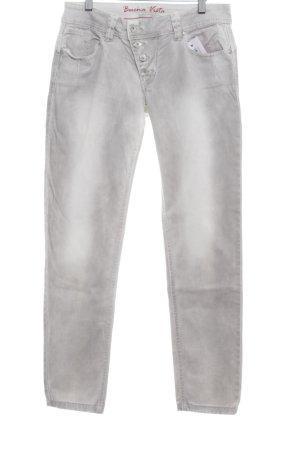 Buena Vista Slim Jeans hellgrau Bleached-Optik